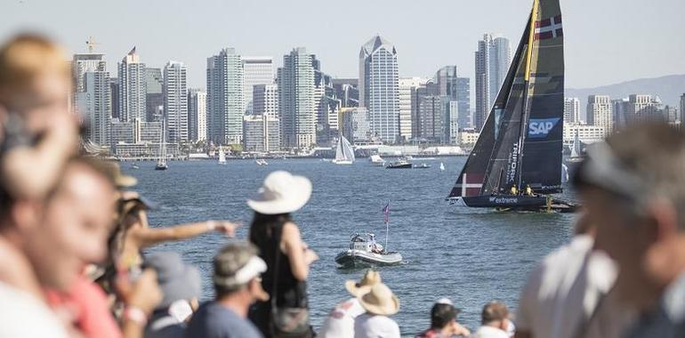 Light winds hinder penultimate day of Extreme Sailing Series™ San Diego