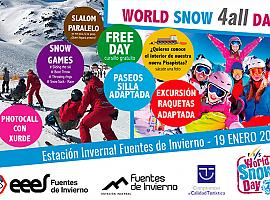 Fuentes de Invierno celebra el World Snow Day este domingo