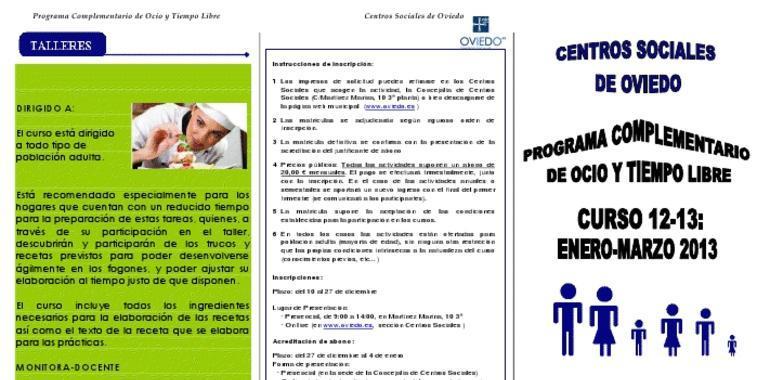 Oferta cursos 2013 cata de vinos y cocina express - Cursos cocina asturias ...