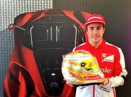 Alonso estrenará un exclusivo casco en Mónaco